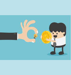 concept of money exchange with creativity has the vector image