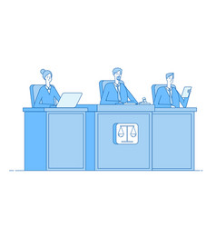 court of justice law defendant proceed vector image