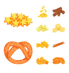 Design of food and crunchy symbol vector