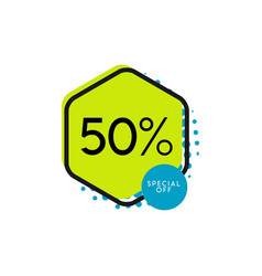Discount 50 special off template design vector
