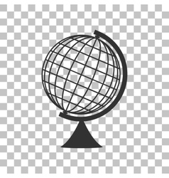 Earth Globe sign Dark gray icon on transparent vector image