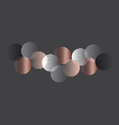 elegant luxury round geometry shapes pattern vector image