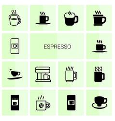 espresso icons vector image