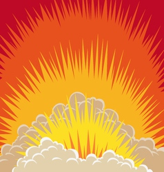Explosion clouds vector image