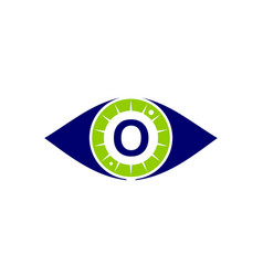 eye care solutions letter o vector image