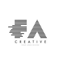 fa f a zebra letter logo design with black and vector image