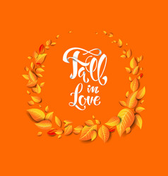 fall in love card vector image