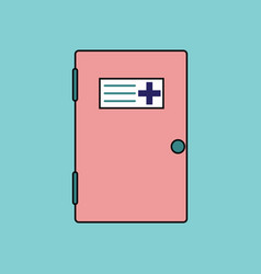 Flat icon design collection doctors door vector