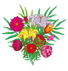 flower buquet isolated vector image