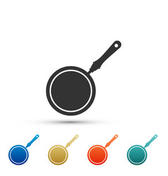 frying pan icon isolated on white background vector image