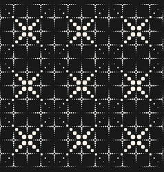 Geometric seamless pattern halftone dotted lines vector