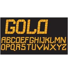 gold mosaic font vector image