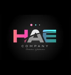 hae h a e three letter logo icon design vector image