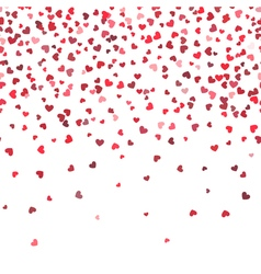 Heart fall background Love and valentine day or vector image