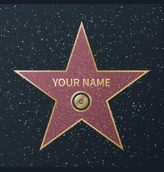 Hollywood walk fame star movie celebrity vector