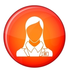 Hr management icon flat style vector