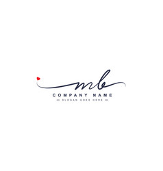 Initial letters mb logo - handwritten signature vector