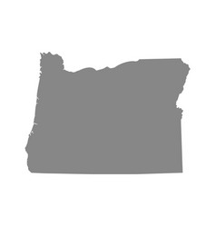 Map us state oregon vector