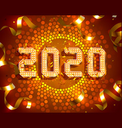 merry christmas and happy new year 2020 vector image
