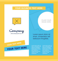 Message not sent company brochure template vector