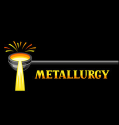 Metallurgical ladle vector