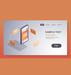 mobile application email notification concept new vector image