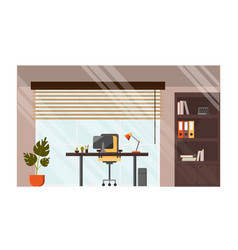 modern office comfortable workplace concept vector image