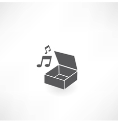 Music Box icon vector