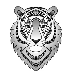 Ornamental Black Tiger vector image