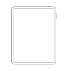 outline line style of new version tablet vector image
