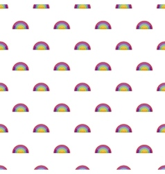 Rainbow LGBT pattern cartoon style vector