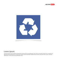 recycle icon - blue photo frame vector image
