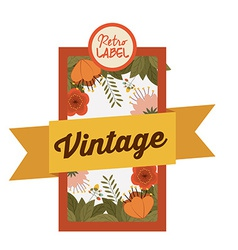Retro and Vintage label design vector image