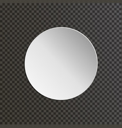 Round paper plate on transparent background vector