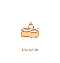 Salt water concept 2 colored icon simple line vector