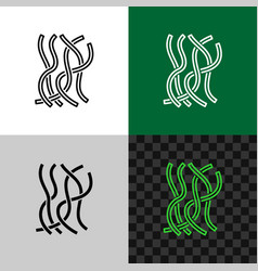 Seaweed line icon sea weeds underwater plant vector