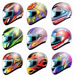 Set of racing helmet i vector