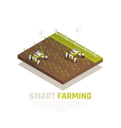 Smart agriculture concept vector