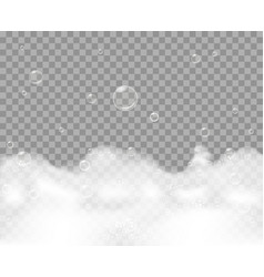 soap foam on transparent background vector image