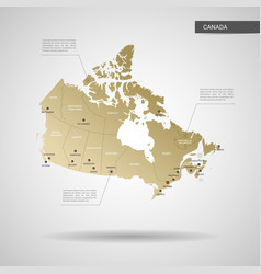 stylized canada map vector image