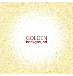 Texture gold glitter in a circle vector image