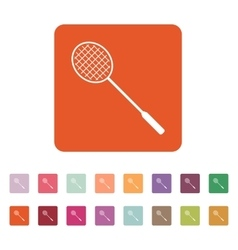 The badminton icon Game symbol Flat vector image