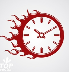 Time runs fast conceptual business icon clock vector