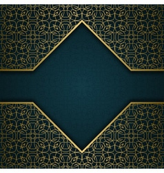 Traditional ornamental background with frame vector