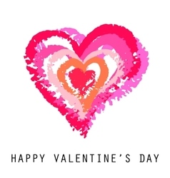 Valentine Card Painted Pink vector