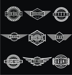 Vintage Badge Labels vector image
