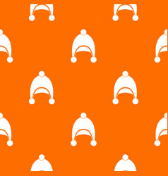 warm hat pattern seamless vector image