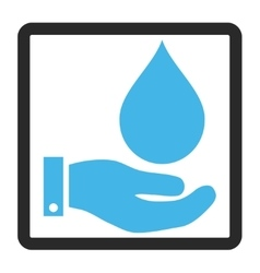 Water Service Framed Icon vector image