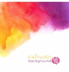 Watercolor bright hand painted background vector image