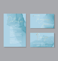 wedding tender invitations and card template vector image